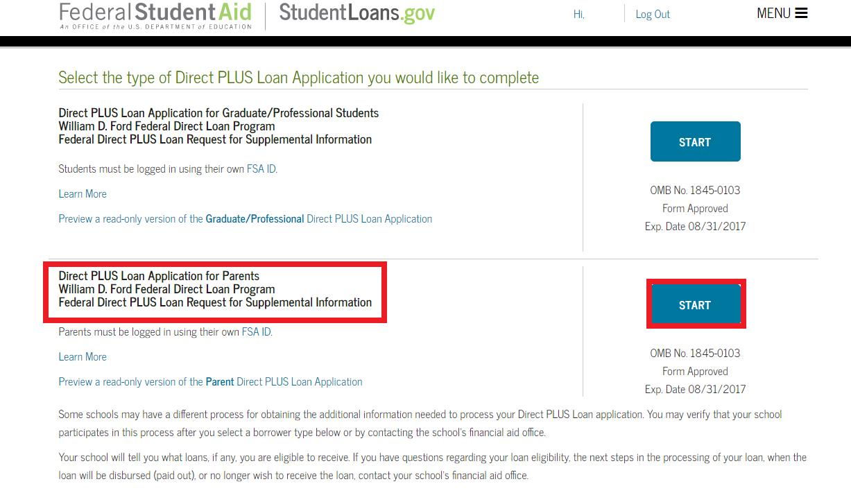 Federal Direct Parent PLUS Loan – Office of Student